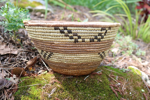 XL natural bowl with black pattern