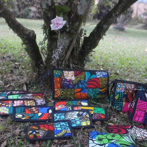 Small Batik multicolor pouch