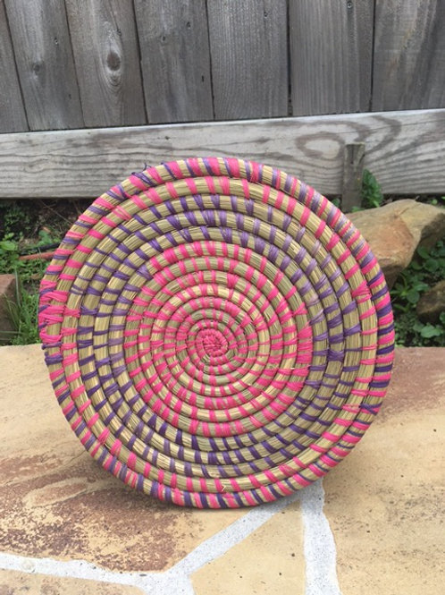 Pink and Purple Flat Trivet