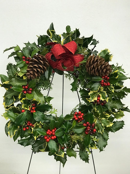 Large Holly Wreaths