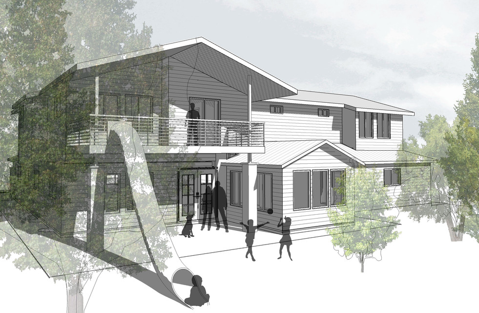 2017104_Taylor Residence_Rear Perspectiv