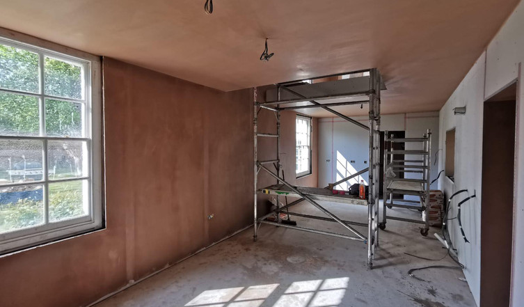Plastering work completed