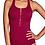 Thumbnail: Amoena Swimwear Dubai One Piece Mastectomy Swimsuit (Burgundy with Gold Front Zi