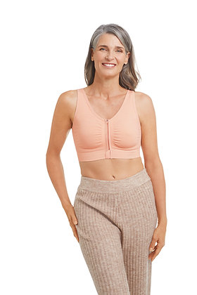 Amoena Emilia Seamless Non Underwired Pocketed Surgical Bra - Rose Nude 45012
