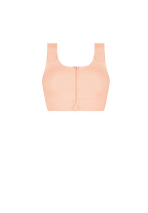 Amoena Pamela Seamless Non Underwired Pocketed Surgical Bra -Rose Nude 45009