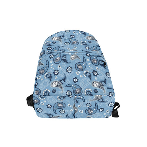 Sky Blue College Paisley Bookbag