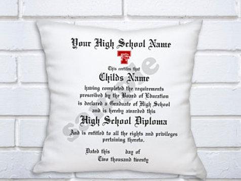 Graduation Diploma Keepsake Pillow