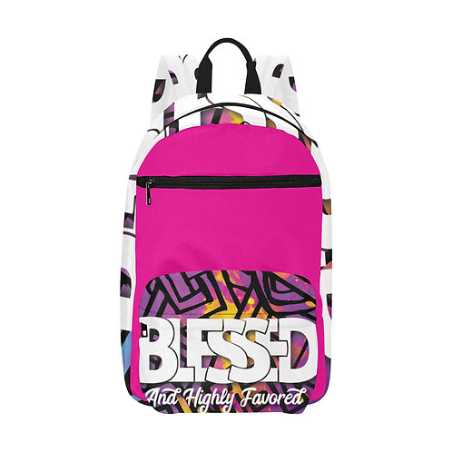 Blessed and Highly Favored Med Size Bookbag