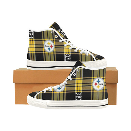 Steeler Inspired High Top Canvas Shoes