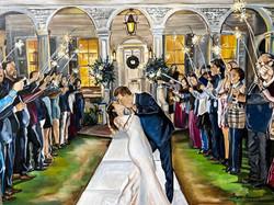 Krista and Brad Wedding Painting