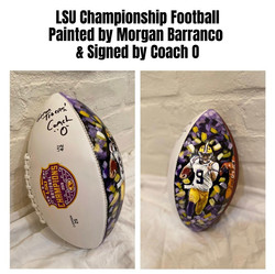 Signed and Painted Football