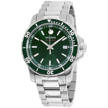 Movado Series 800 Green Dial Steel Men's Watch