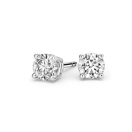 "1CT TW ""A"" Quality Diamond 14Kt Gold Stud Earrings"