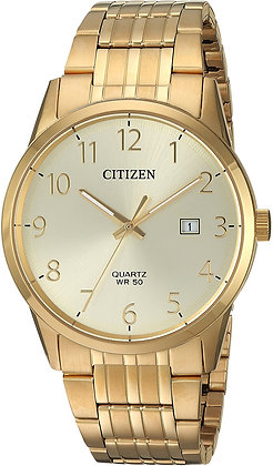 Quartz Men's Gold Dial Watch