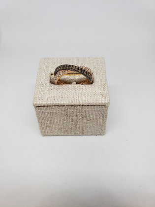 White and Brown 'Pumpkin Spice' Diamond Ring