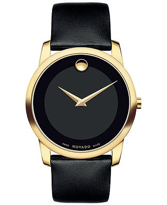 Movado Museum Classic Yellow Gold Case Mens