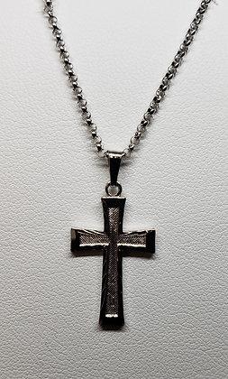 Sterling Silver Cross- Diamond Cut