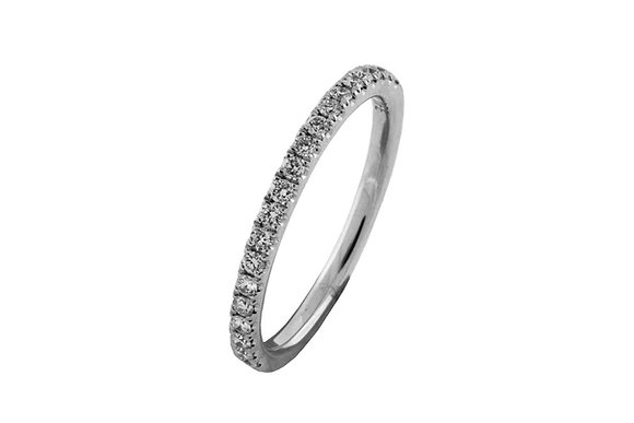 Shared Prong Setting White Gold Diamond Ring