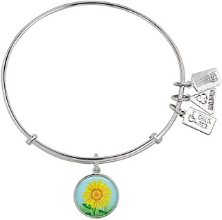 Sunflower Wind and Fire Charm Bangle
