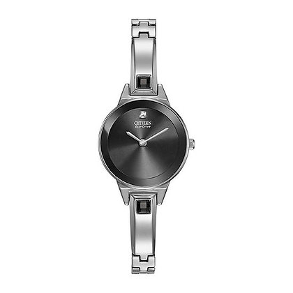Citizen Axiom - Ladies Eco-Drive Blank Face Black Dial Watch