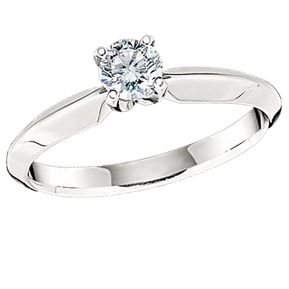 3/8 Ct Diamond Solitaire Ring by Joseph Asher