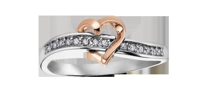 Rose + White Gold Diamond Ring