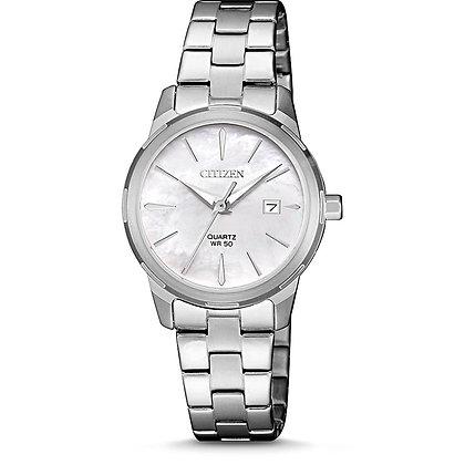 Citizen Women's White Quartz Watch with Date