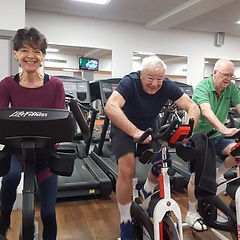 Over 50's work out at ActivZone Gym