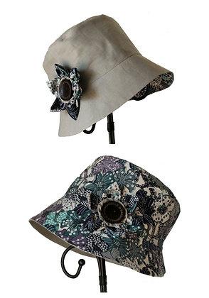 Chapeau réversible modèle Vintage liberty bleu