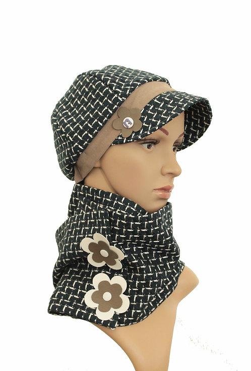 Ensemble chapeau, casquette / tour de cou , snood
