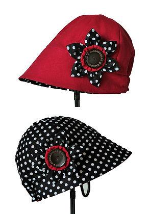 Chapeau réversible modèle Madison Pois