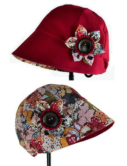Chapeau réversible modèle Madison liberty rouge