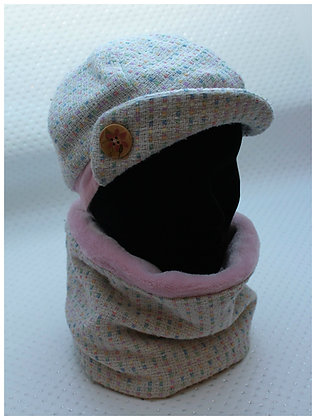 Ensemble chapeau / beret + tour de cou , snood