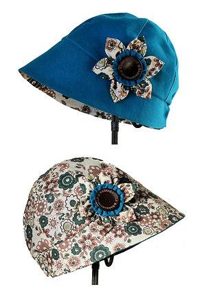 Chapeau réversible modèle Madison liberty bleu