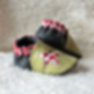 Chaussons en cuir souple bébé enfant fille garçon
