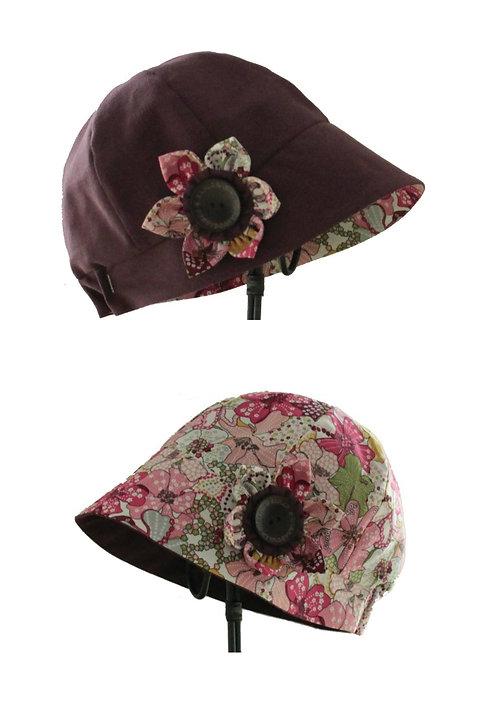 Chapeau réversible modèle Madison liberty prune