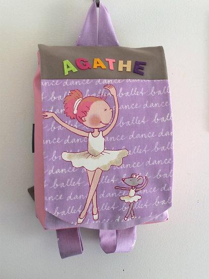 Sac à dos personnalisé  BarnaBallet Violet 2