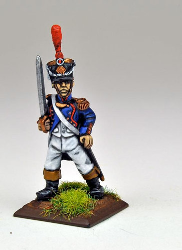 FNFR201: French Line Infantry 1807-12 - Command (6 figures)