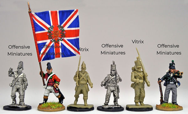 Size Comparion of Offensive miniatures & vitrix miniature figures