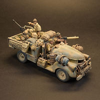 British 8th Army Chevy Truck with Soldiers