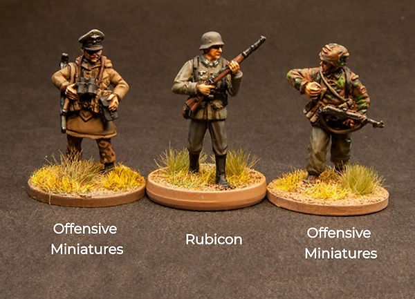 Size Comparion of Offensive miniatures & rubicon figures