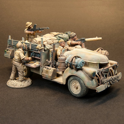 EBEA511: LRDG - Command Vehicle & Add On Set (10 figures)