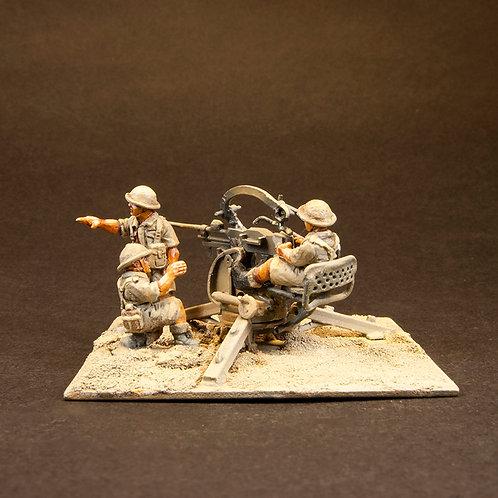 EBEA507: British 8th Army - Breda Gun & Crew (3 figures)