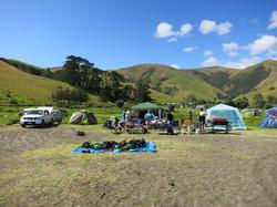 Camping at Fletcher Bay