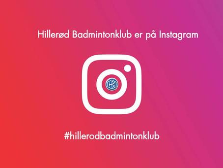 Hillerød Badmintonklub´s Instagram bliver overtaget