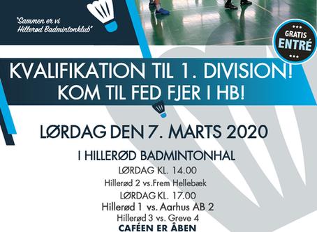 Kvalifikation til 1. Division - Kom til fed fjer i HB!