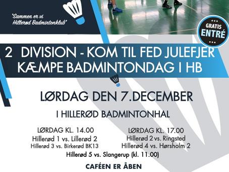 Kom til fed julefjer i HB lørdag den 7. december 2019