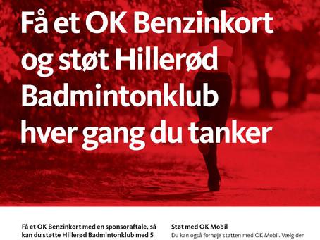 Støt Hillerød Badmintonklub, hver gang du tanker