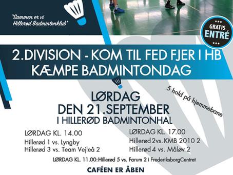 Kom til fed fjer i HB den 21/9 - 5 hold på hjemmebane!