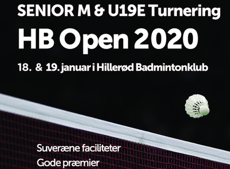 HB OPEN 2020 - SENIOR M & U19 E Turnering